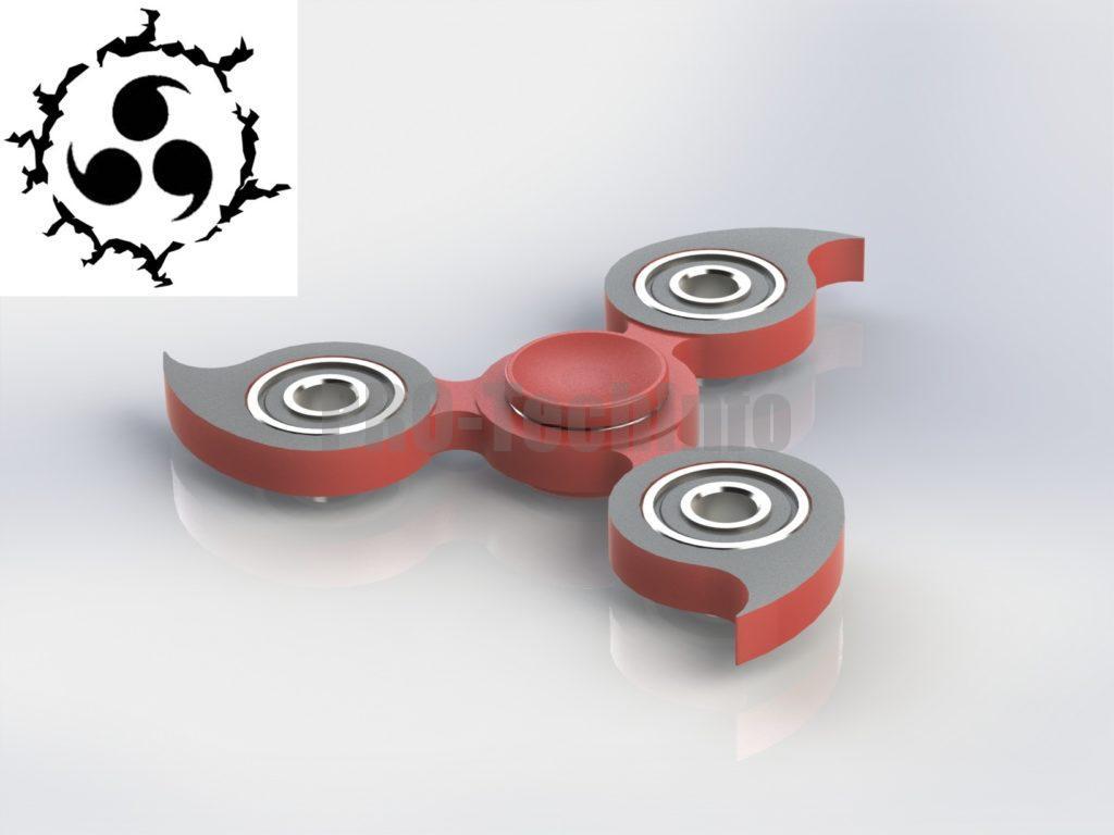 3Д модель спиннера Учиха Саске скачать
