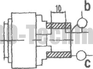 Токарный патрон с креплением заготовки за внутреннюю поверхность с прямыми кулачками