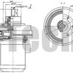 Волновой мотор-редуктор МВз2-160-5,5 чертеж