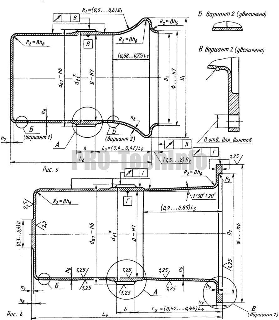 Гибкие колеса для герметичных передач чертеж
