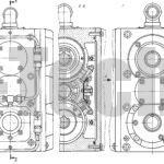 Коробка передач с электромагнитными муфтами чертеж виды сбоку
