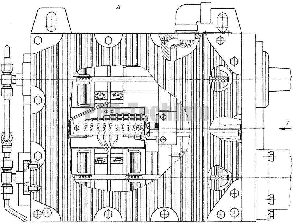 Коробка передач с электромагнитными муфтами чертеж разрез