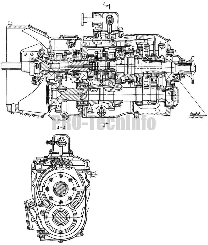 Коробка передач автомобиля КамАЗ-5320 чертеж