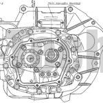 Коробка передач с дифференциалом автомобиля Москвич-2141 вид сбоку