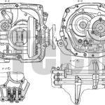 Коробка передач с дифференциалом автомобиля Москвич-2141 разрезы по фланцам