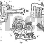 Коробка передач с дифференциалом автомобиля Москвич-2141 местные разрезы