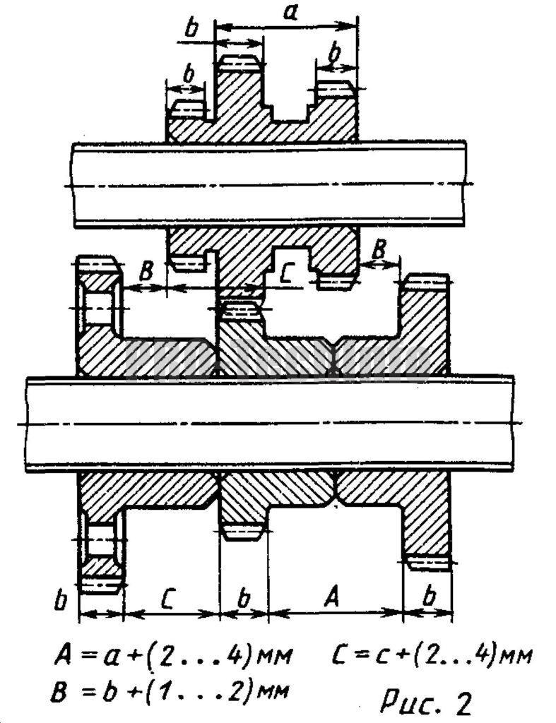 Схема для трехступенчатой коробки передач