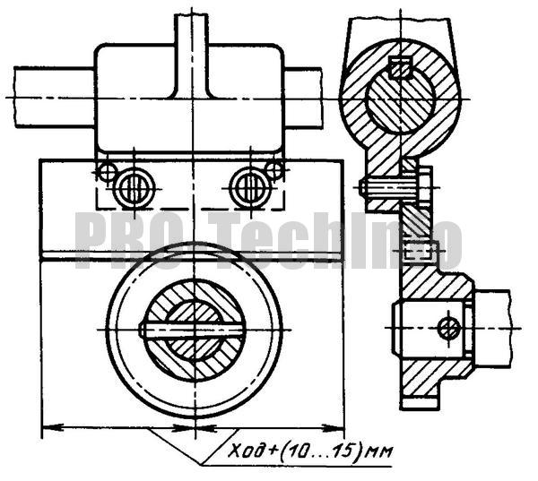 Привод зубчатым колесом - рейкой