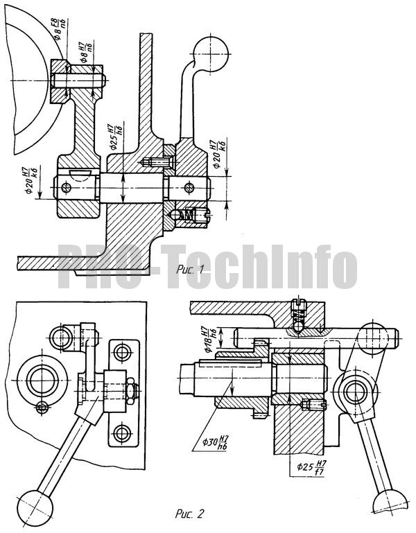 Рычажные механизмы передвижения зубчатых колес