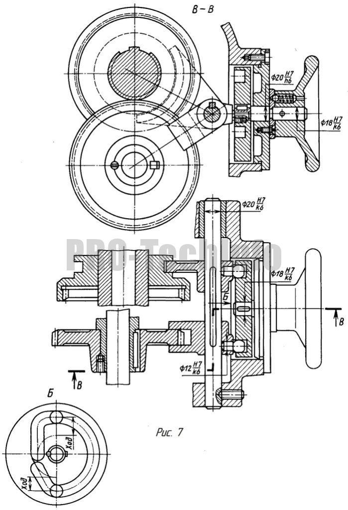 Дисковый кулачковый механизм передвижения зубчатых колес