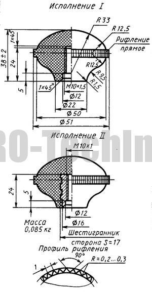 Ручки рычагов управления по МН 2725-64