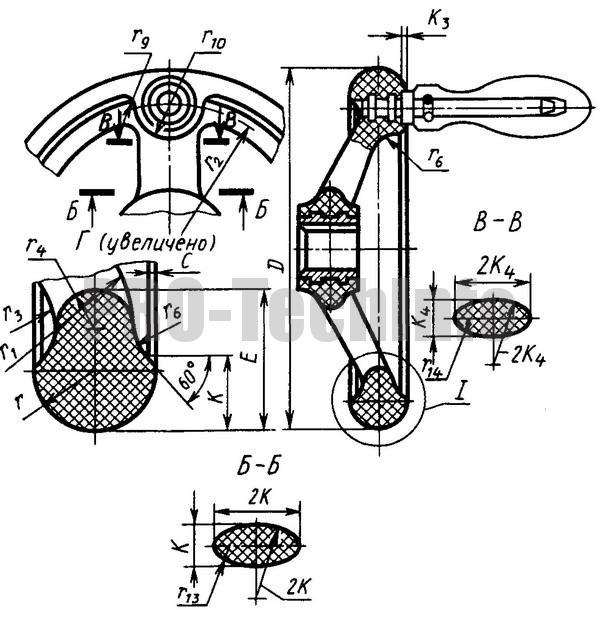 Маховички Пластмассовые со спицами по МН 8-64 исполнение 2