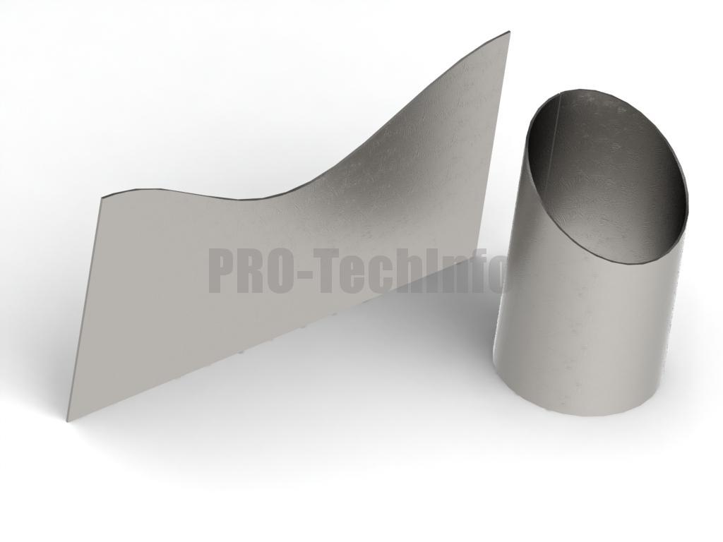 Развертка скошенного цилиндра в SolidWorks скачать бесплатно