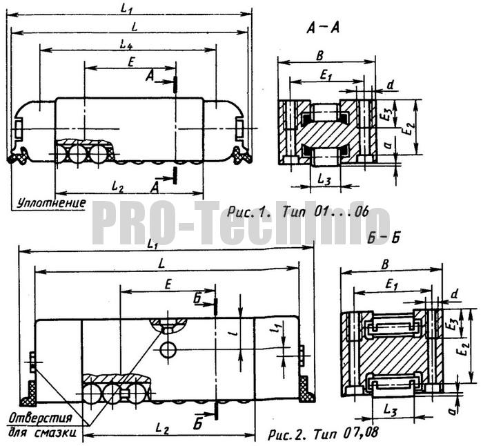 Роликовые опоры (типа танкеток) унифицированной серии