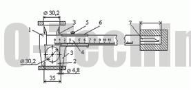 Штангенциркуль ШЦ-I двусторонний с глубиномером схема измерения