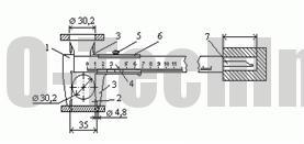 Штангенциркуль ШЦ-I схема измерения