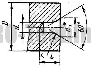 отверстия центровые формы R