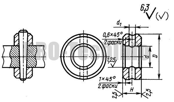 Кольца установочные со штифтовым креплением по ГОСТ 3130-77