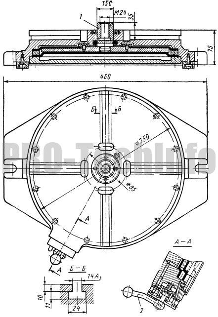 Стол круглый с пневматическим приводом