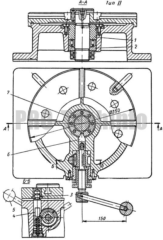 Стол с одновременным фиксированием и креплением поворотной части тип 2
