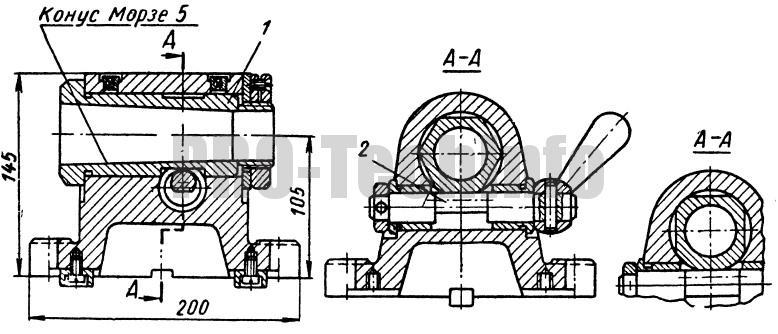 Головка делительная горизонтальная механическая