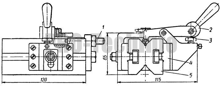 Кондуктор для сверления отверстий в болтах, шпильках и валиках