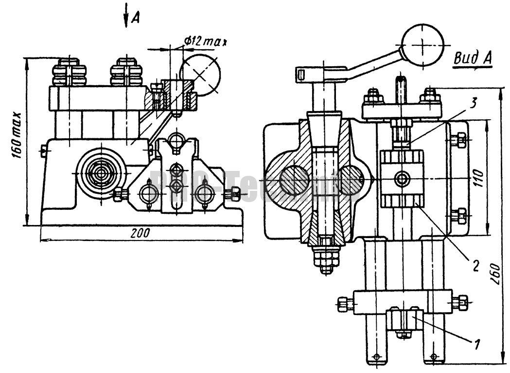 Кондуктор скальчатый с механическим зажимомдля сверления отверстий в цилиндрических заготовках