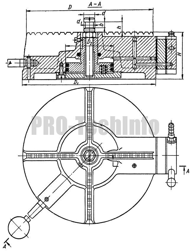 Подставка для накладного кондуктора с пневматическим креплением